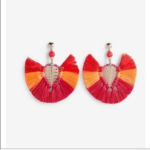 Express ombré tassel filigree statement earring